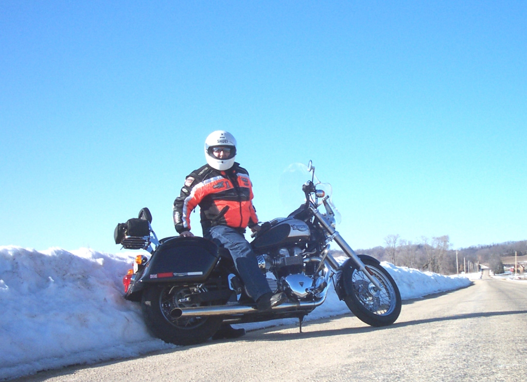 Spring fever on a Triumph near Spring Green