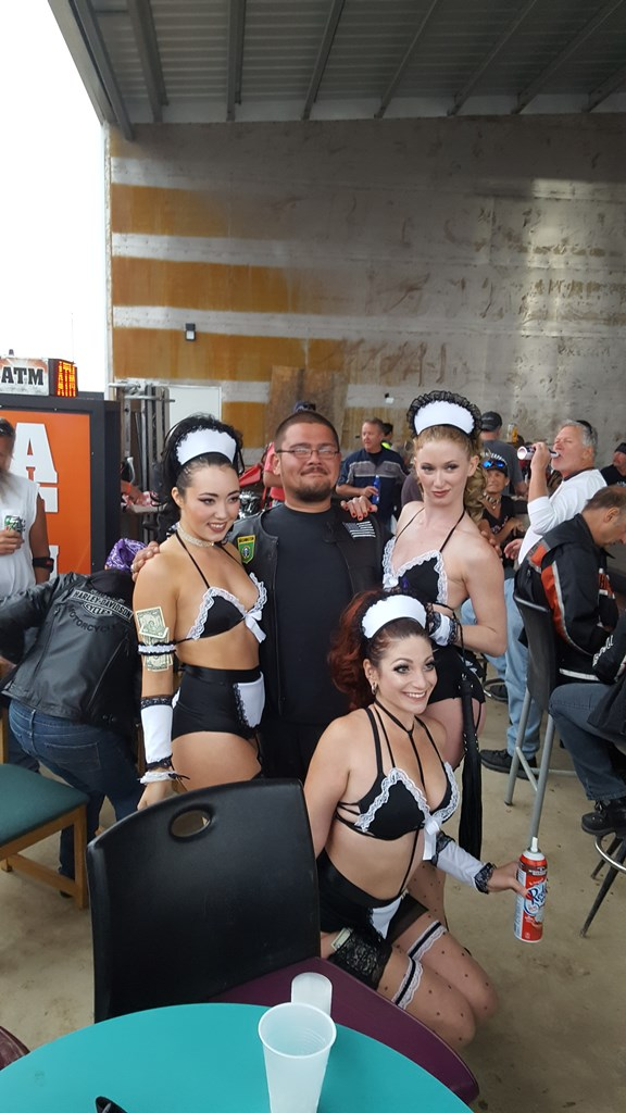 Tony and his girls at the Full Throttle