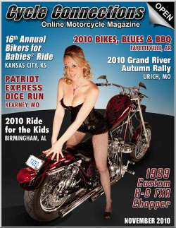 1989 Custom Harley-Davidson FXR Chopper and Cover Model Shaunta