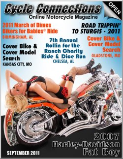 2007 Harley-Davidson Fat Boy & Cover Model Jennifer