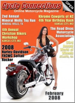 2008 Harley-Davidson FXCWC Rocker C & Cover Model Michelle