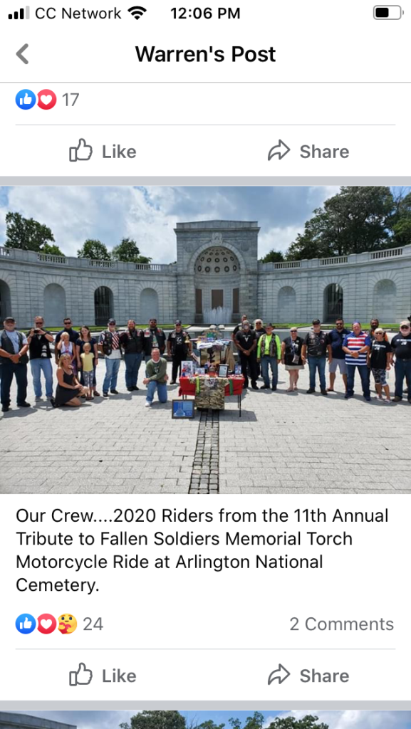 2020 Fallen Soldiers memorial cross country ride 34