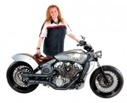 "Donna Ashe & Her 2016 Indian Scout ""Lakota"""