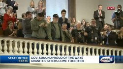 "Governor of New Hampshire Honors the ""Fallen 7"" & Survivors at the State of the State Address"