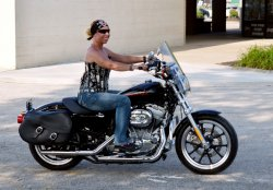 Deb Greenwood and Her 2013 Harley-Davidson Sportster SuperLow