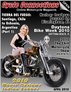 2010 Moore Customs Indian Bobber and Cover Model Sherri