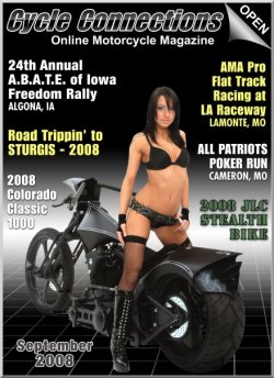 2008 Johnny Legend Customs Stealth Bike & Cover Model, Eva
