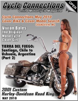 2001 Custom Harley-Davidson Road King and Cover Model Mandy
