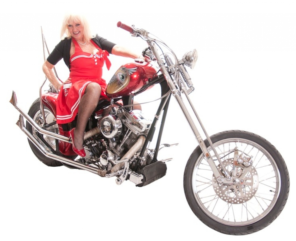 Debbe St. Clair & Her 2000 Custom Boar Chopper