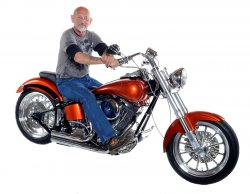 "Jeff ""Polock"" Zielinski & His 1996 Harley-Davidson Softail ""Orange Peeler"""