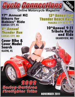 2002 Harley-Davidson Road King Firefighter Edition Trike & Cover Model Keesha