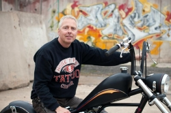 Peter Ström & His Sportster Chopper
